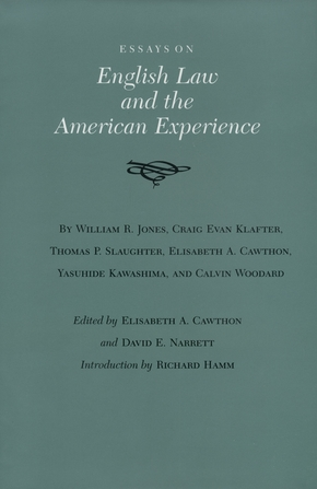 Essays on English Law and the American Experience